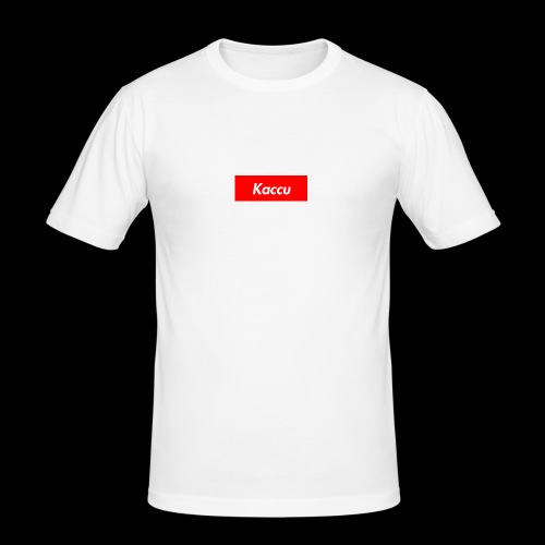 Kaccu box logo - Miesten tyköistuva t-paita