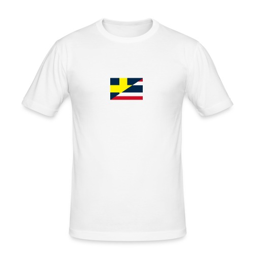thailands flagga dddd png - Slim Fit T-shirt herr