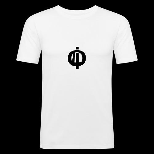 OLi Branded// Black and White - Men's Slim Fit T-Shirt