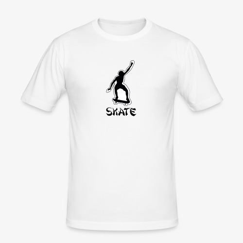 skate - Mannen slim fit T-shirt