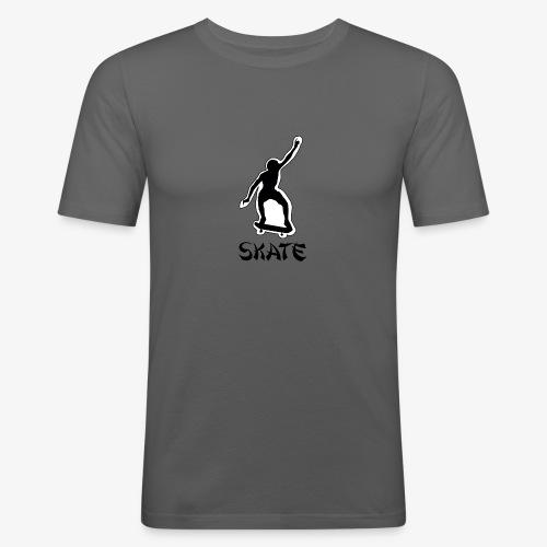 skate - Mannen slim fit T-shirt
