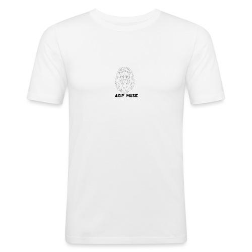 W/B Logo Lion {A.O.P MUSIC} - Men's Slim Fit T-Shirt
