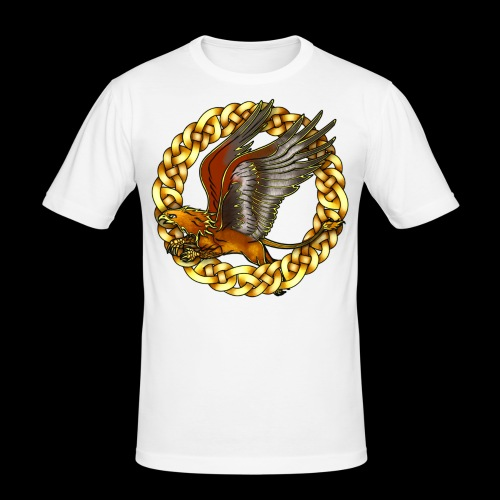 Golden Gryphon - Men's Slim Fit T-Shirt