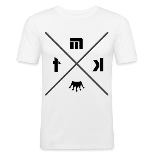 logo MTK croix renverser gris png - T-shirt près du corps Homme