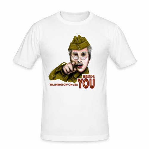 Walmington on Sea by Jon Ball - Men's Slim Fit T-Shirt