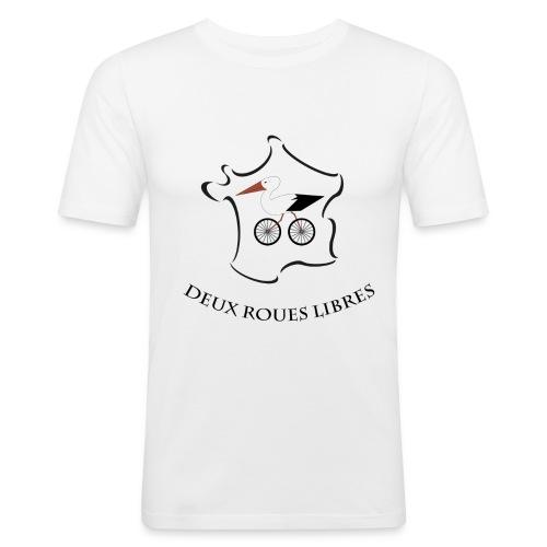 Deux roues libres - T-shirt près du corps Homme