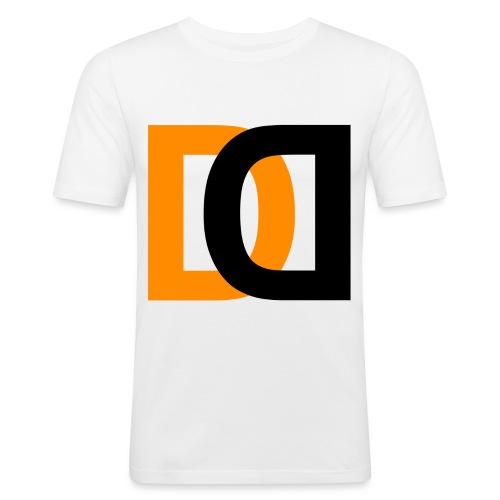 Dutch Driveclub logo oranje zwart transparante ach - Mannen slim fit T-shirt