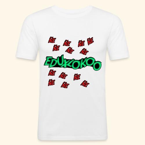 logo de eduxlokoo ñe - Camiseta ajustada hombre