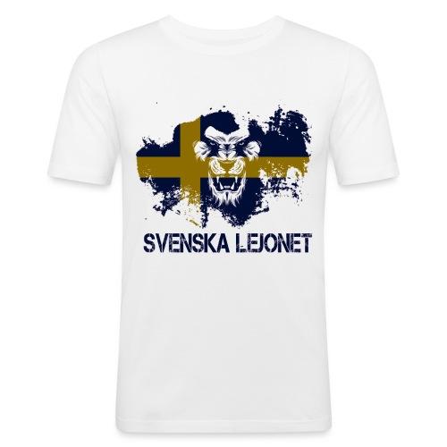 Svenska Lejonet Official Chest Logo - Slim Fit T-shirt herr