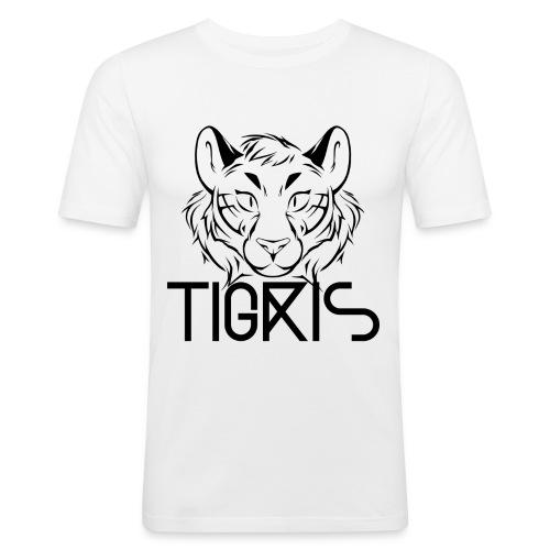 Tigris Logo Picture Text Black - Men's Slim Fit T-Shirt