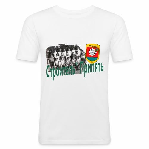 STROITEL 3 - Mannen slim fit T-shirt