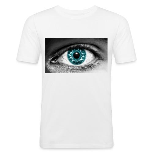 eyes_2 - Mannen slim fit T-shirt