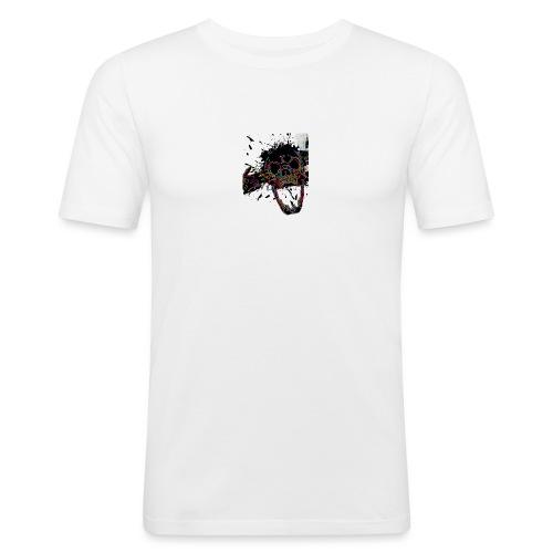 Shot Skull - Men's Slim Fit T-Shirt