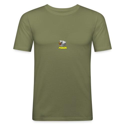 POw3r sportivo - Maglietta aderente da uomo