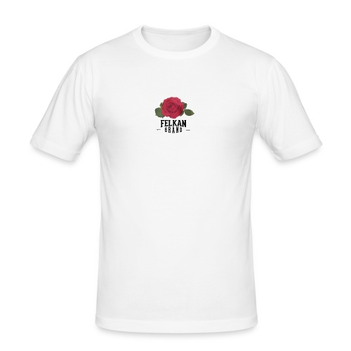 Felkan Brand: Rose Print Black - Slim Fit T-shirt herr