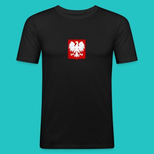 Koszulka z godłem Polski - Obcisła koszulka męska