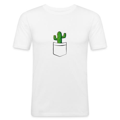 Kaktus in der Tasche – lustige Geschenkidee - Männer Slim Fit T-Shirt
