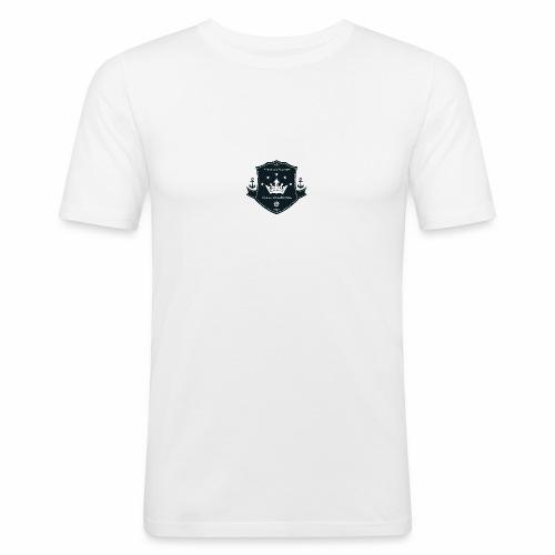 Logo on a boat com - Männer Slim Fit T-Shirt