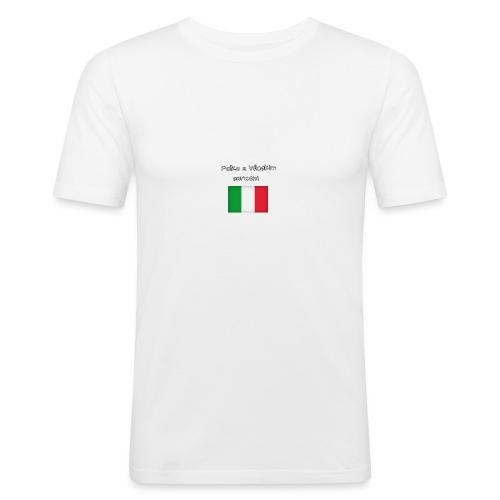 Włosko-polska - Obcisła koszulka męska