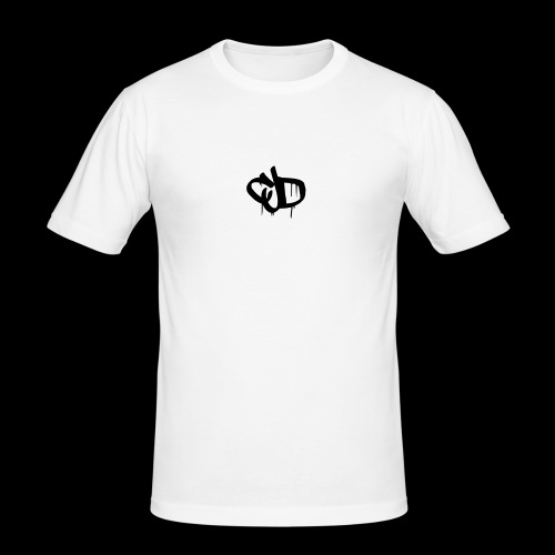 Dripping blood CJD logo - Men's Slim Fit T-Shirt