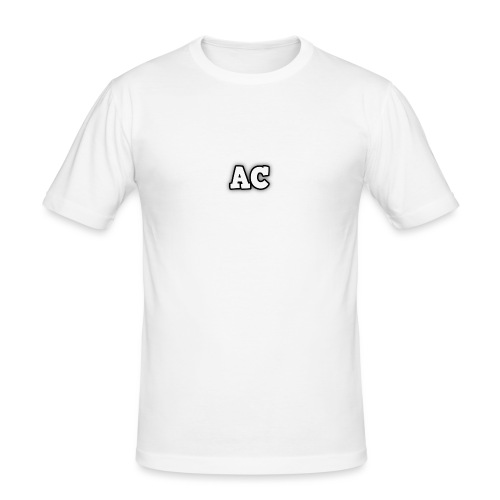 AC blur logo - Men's Slim Fit T-Shirt