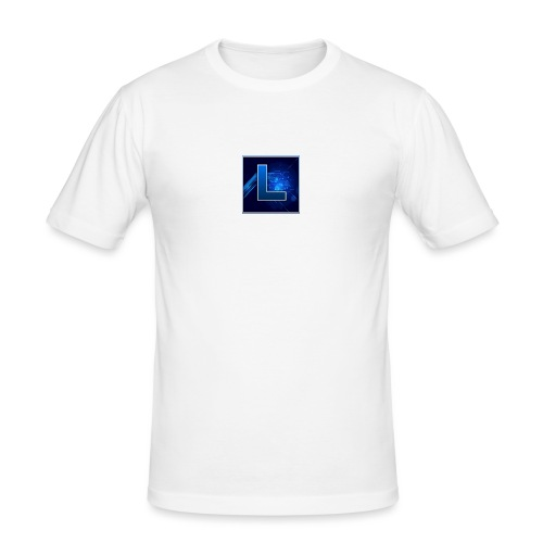 Logo GamenMetLucas - Mannen slim fit T-shirt