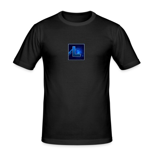 Logo GamenMetLucas - Mannen slim fit T-shirt
