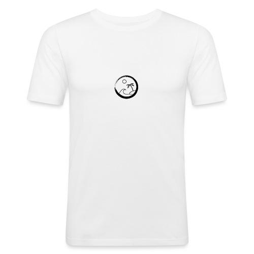 The big surf wave (black) - T-shirt près du corps Homme