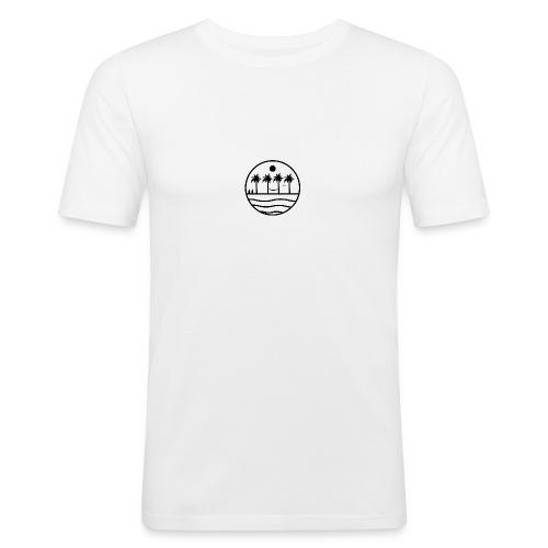 zon zee strand - Mannen slim fit T-shirt