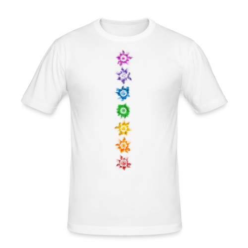 Chakra - Shirt - Männer Slim Fit T-Shirt