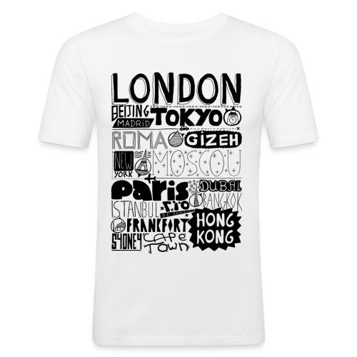 Villes du monde - T-shirt près du corps Homme