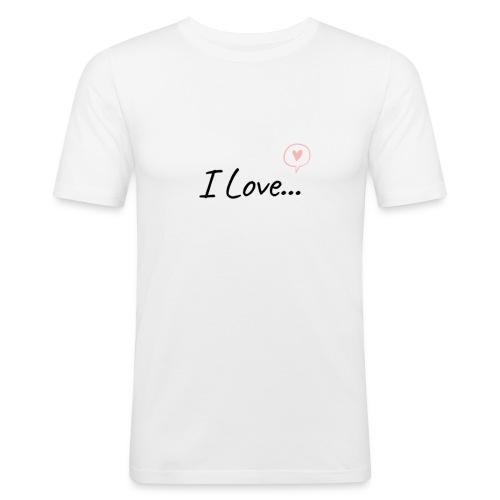 I Love... - Maglietta aderente da uomo