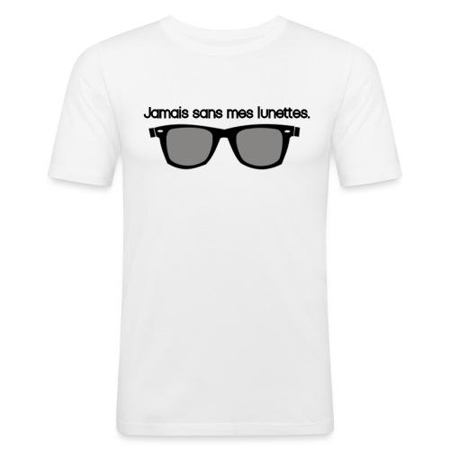 jamais sans mes lunettes - T-shirt près du corps Homme