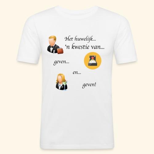 Het huwelijk... - Mannen slim fit T-shirt