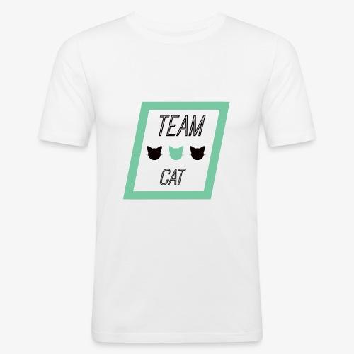 Team Cat - Slogan Tee - T-shirt près du corps Homme