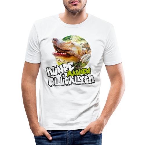 Hunde machen glücklich - Männer Slim Fit T-Shirt