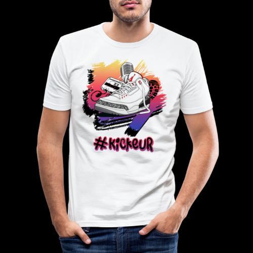 #Kickeur Noir - T-shirt près du corps Homme