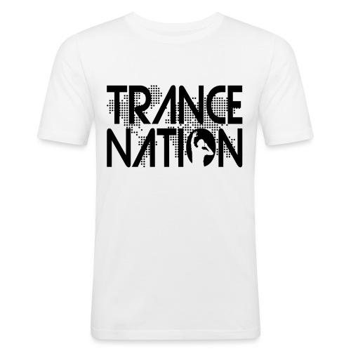 Trance Nation (Black) - Slim Fit T-shirt herr