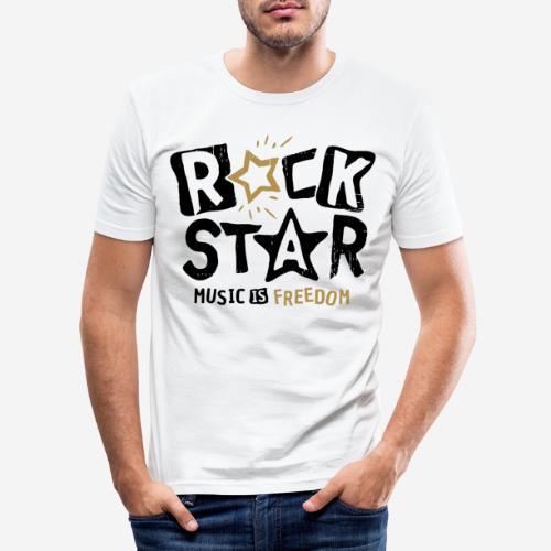 Musik Freiheit - Männer Slim Fit T-Shirt