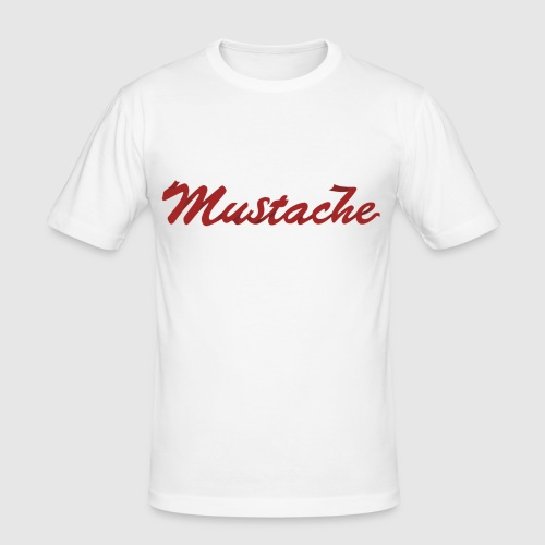 Red Mustache Lettering - Men's Slim Fit T-Shirt