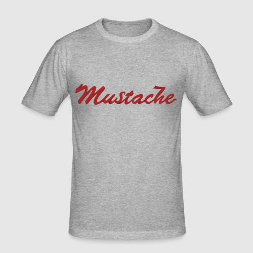 Red Mustache Lettering - Men's Slim Fit T-Shirt