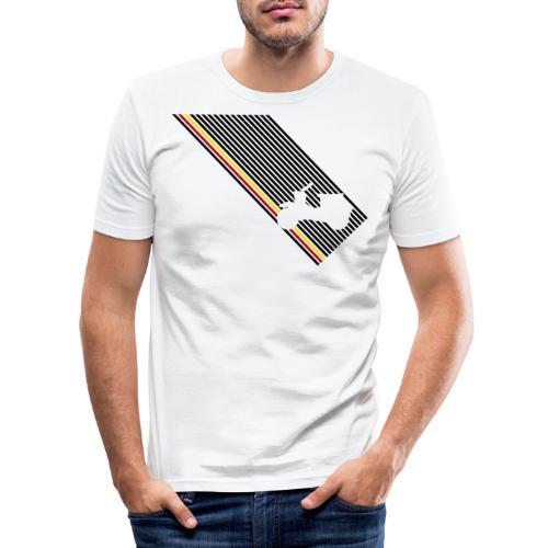 schwalbe streifen diagonal - Männer Slim Fit T-Shirt