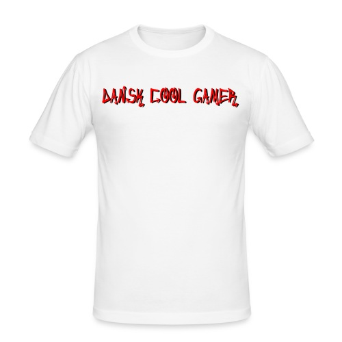 Dansk cool Gamer - Herre Slim Fit T-Shirt