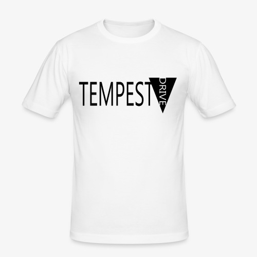 Tempest Drive: Full Logo - Herre Slim Fit T-Shirt