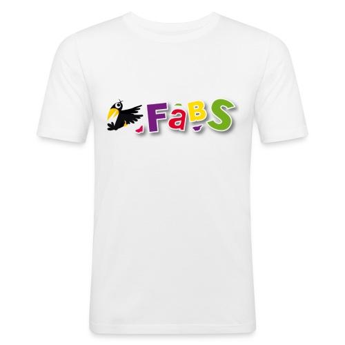 fabslogo trans - Männer Slim Fit T-Shirt