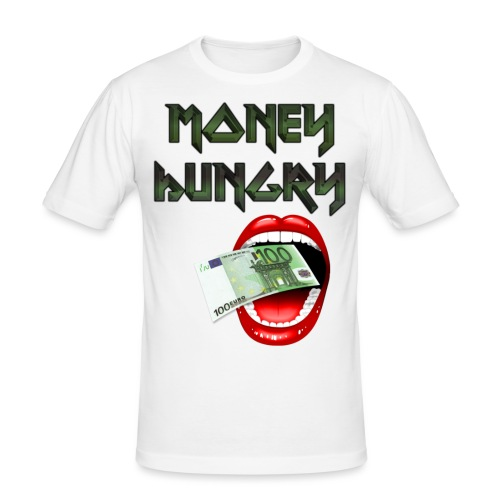 MONEY HUNGRY - Mannen slim fit T-shirt