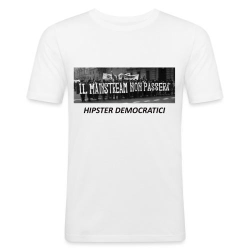 MAINSTREAM NERA - Maglietta aderente da uomo