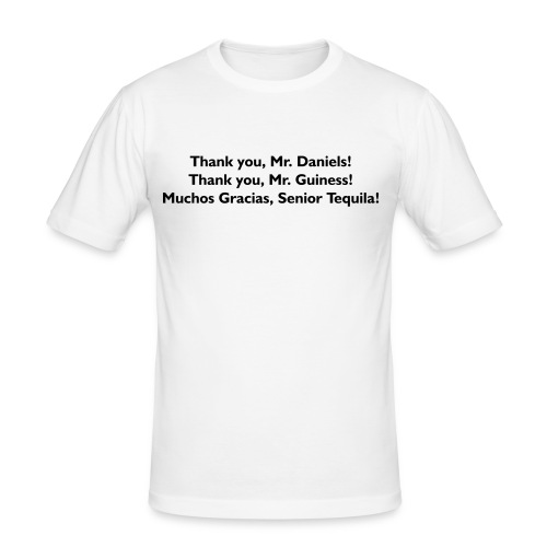Thank You Mr. Alcohol - PrintShirt.at - Männer Slim Fit T-Shirt