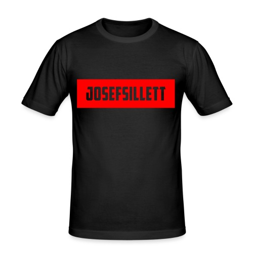 Josef Sillett Red - Men's Slim Fit T-Shirt