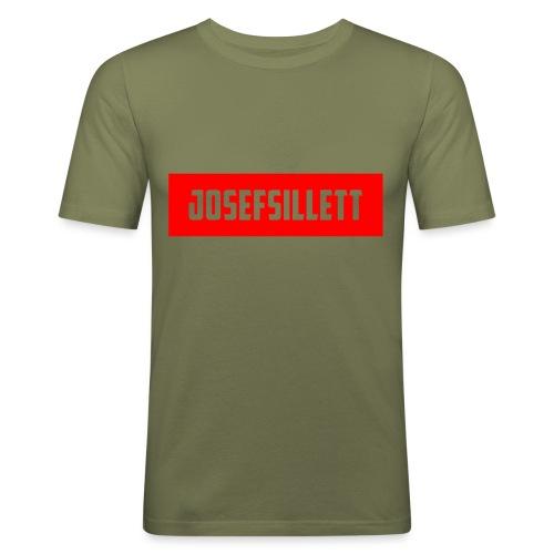 Josef Sillett Red - Men's Slim Fit T-Shirt